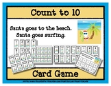 Count to 10 Card Game - Santa goes to the Beach