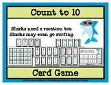 Count to 10 Card Game - Sharks on Vacation
