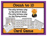 Count to 10 Card Game - Silly Kittens - Halloween