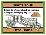Count to 10 Card Game - Sleep in a Tent - Camping
