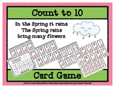 Count to 10 Card Game - Spring Flowers