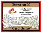 Count to 10 Card Game - Squeaky Squirrel Pirate