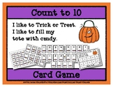 Count to 10 Card Game - Trick or Treat - Halloween