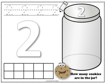 Count 1 to 10 - How Many Cookies Counting Activity Package