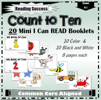 Count to 10 I Can Read It Booklets