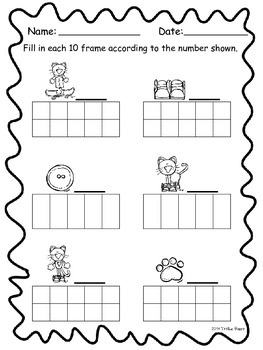Count to 10 with a Groovy Kitty! (using ten frames)
