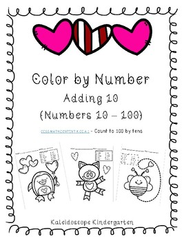 Count to 100 - Color the picture by adding 10's
