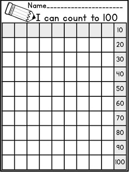 Count to 100 -Lakeshore Recording Sheets-