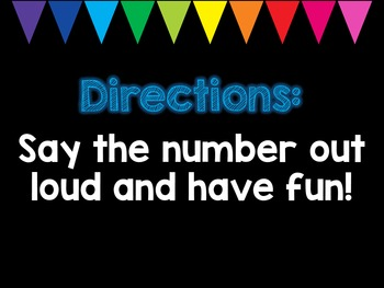Number Names and the Count Sequence PowerPoint K.CC.A.1