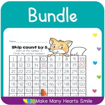 Count to 100 Worksheets Bundle