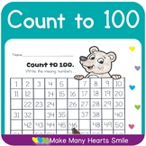 Count to 100 Worksheets Bundle