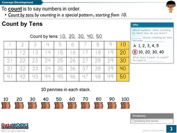 Count to 100 by Tens