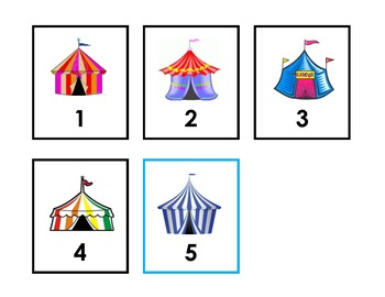 Count to 100 with Circus Tents - Flashcard Set