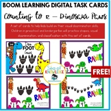 Counting to 12 Math Game Show - Dinosaur Paws Boom Digital Slides