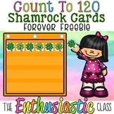 Count to 120-Shamrock Cards Freebie