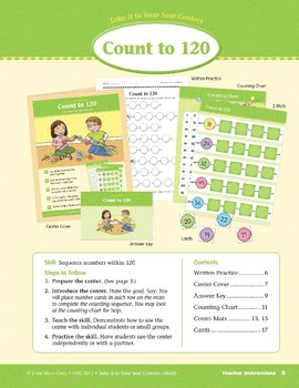 Count to 120 (Take It to Your Seat Centers Common Core Math)