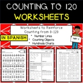 Count to 120 charts SPANISH, # lines,counting w/digital option Distance Learning