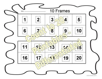 Count to 20 Lesson and Display Printables
