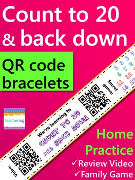 Count to 20 & Back Down Homework {Bracelet with review video & family game}