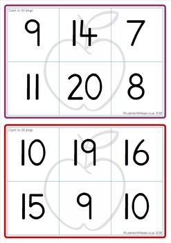 Count to 20 Bingo Game