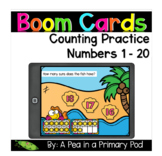 Count to 20 - Boom Cards™ - Distance Learning