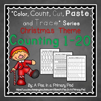 Count to 20 (Color, Count, Cut, Paste, and Trace: Christmas/December Edition)