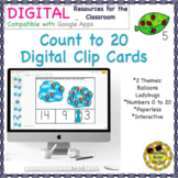 Count to 20 Digital Clip Cards Google Distance Learning