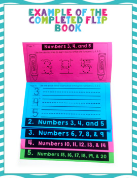 Count to 20 Flip Book Kindergarten Math Centers