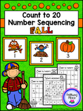 Count to 20 Number Sequencing Activity: Fall