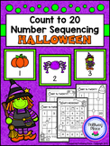 Count to 20 Number Sequencing Activity: Halloween