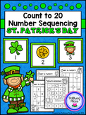 Count to 20 Number Sequencing Activity: St. Patrick's Day