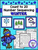 Count to 20 Number Sequencing Activity: Winter