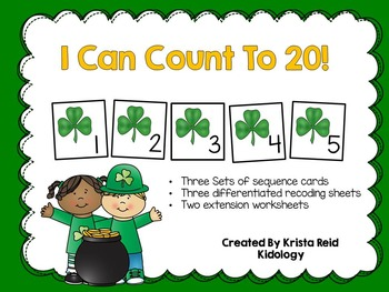 Count to 20 - St Patricks Day - Counting Numbers Activity and Center