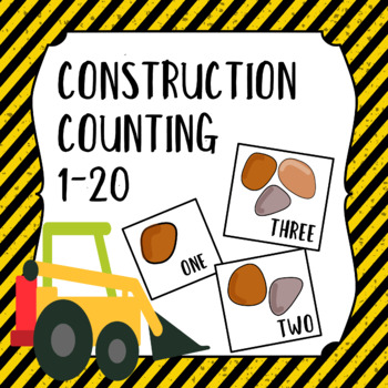 Construction Counting to 20 matching with front loader vehicle