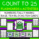 Count to 25 - 4 Types of Flashcards and Differentiated Activities