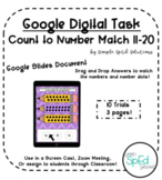 Count to Number Match - 11-20! Digital Learning Activity A
