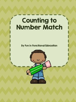 Count to Number Match File Folder Game