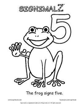 Count to Ten Coloring Book - A Signimalz™American Sign Language Resource