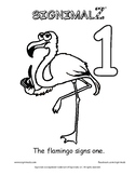 Count to Ten Coloring Book - A Signimalz™American Sign Lan