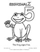 Count to Ten Coloring Book - A Signimalz™American Sign Lan