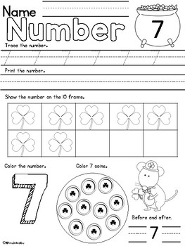 Count to Ten Number Book March - CCA