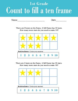 Count to fill a ten frame