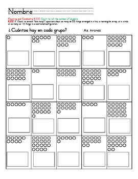 Count to tell the number of objects  (In Spanish)