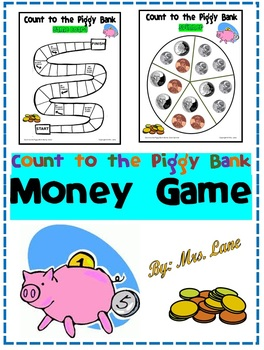 Count to the Piggy Bank Money Game