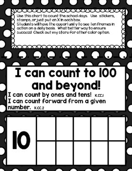 Count to the School Days Black with White Polka Dots 180 Days
