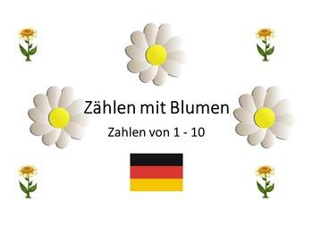 Count with Flowers (German) - Zaehlen mit Blumen