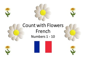 Count with flowers 1-10 (French)