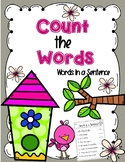 Count words in a Sentence - Words in a Sentence