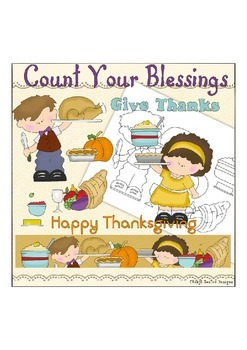 Count your Blessings Thanksgiving NO LICENSE REQUIRED CLIPART COLLECTION