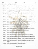 Countable-Uncountable Nouns Study Worksheet